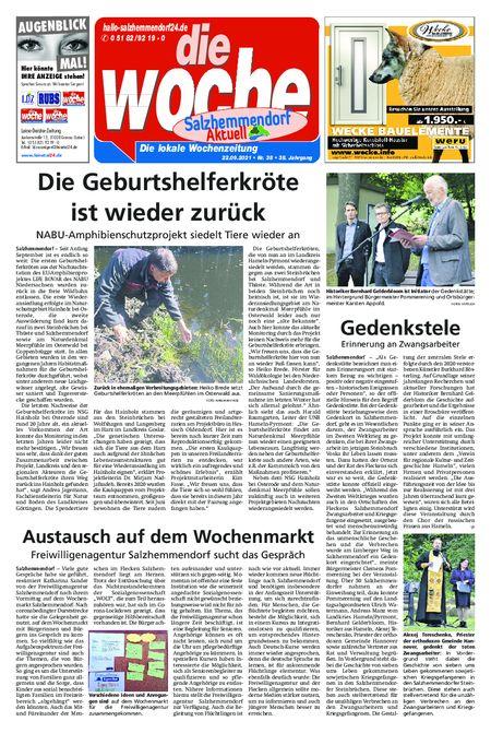 Salzhemmendorf Aktuell vom 22.09.2021