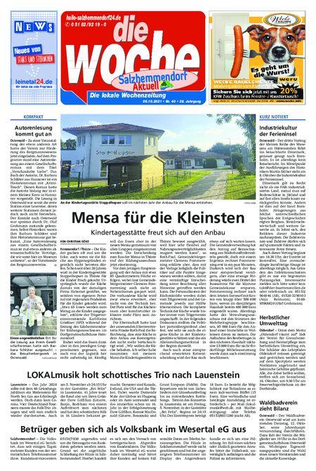 Salzhemmendorf Aktuell vom 06.10.2021