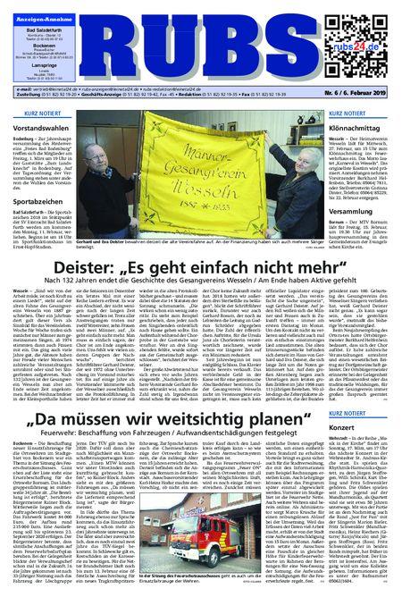 Rund um Bad Salzdetfurth vom 06.02.2019