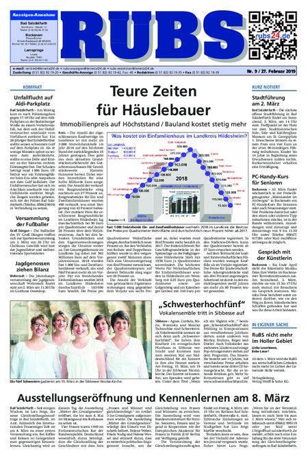 Rund um Bad Salzdetfurth vom 27.02.2019
