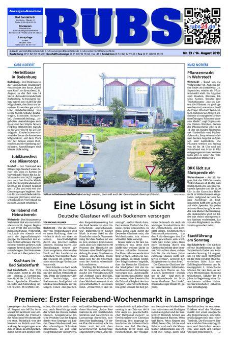 Rund um Bad Salzdetfurth vom 14.08.2019