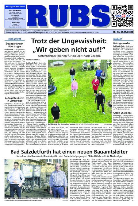 Rund um Bad Salzdetfurth vom 06.05.2020