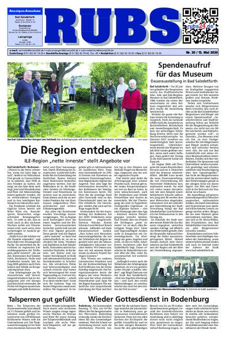 Rund um Bad Salzdetfurth vom 13.05.2020