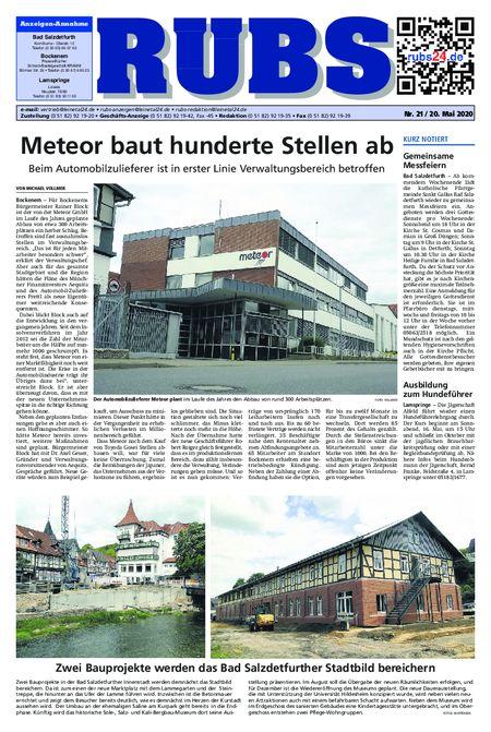 Rund um Bad Salzdetfurth vom 20.05.2020