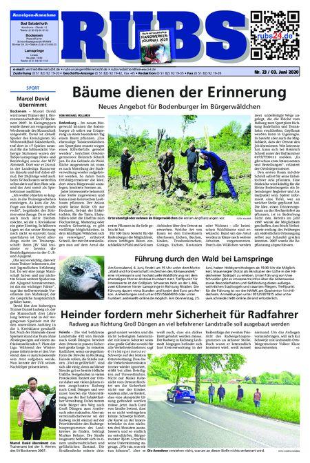 Rund um Bad Salzdetfurth vom 03.06.2020
