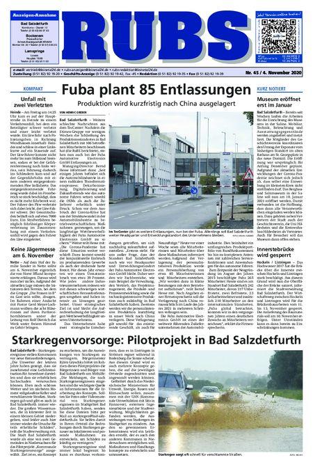 Rund um Bad Salzdetfurth vom 04.11.2020