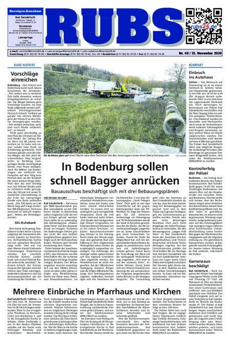 Rund um Bad Salzdetfurth vom 25.11.2020
