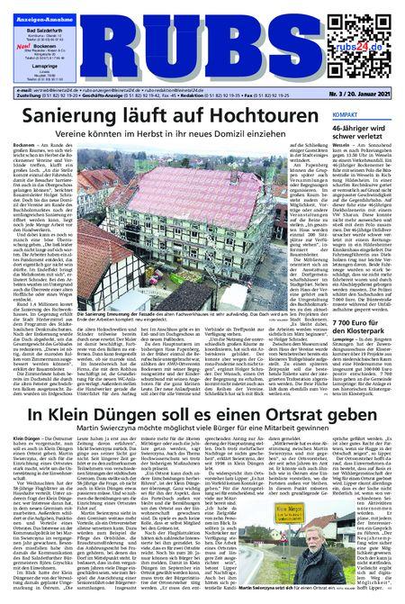 Rund um Bad Salzdetfurth vom 20.01.2021