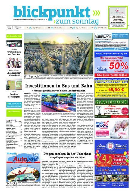 Blickpunkt Nienburg am Sonntag vom 19.01.2019