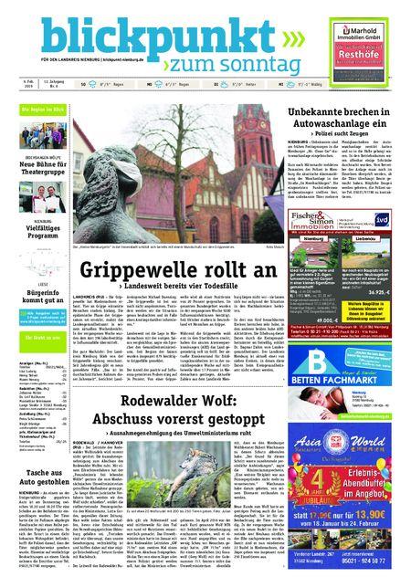 Blickpunkt Nienburg am Sonntag vom 09.02.2019