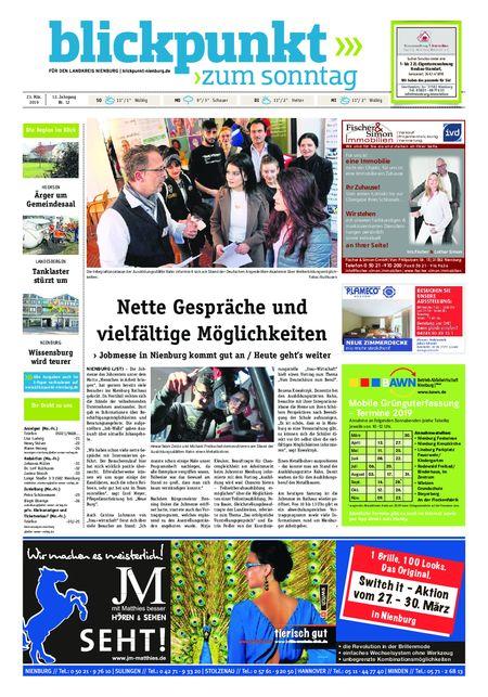Blickpunkt Nienburg am Sonntag vom 23.03.2019
