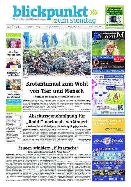 Blickpunkt Nienburg am Sonntag vom 30.03.2019