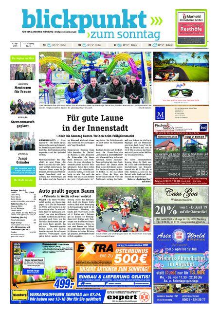 Blickpunkt Nienburg am Sonntag vom 06.04.2019