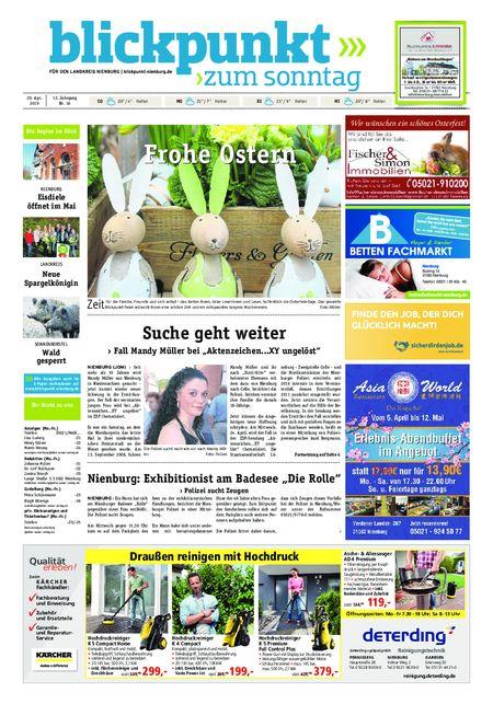 Blickpunkt Nienburg am Sonntag vom 20.04.2019
