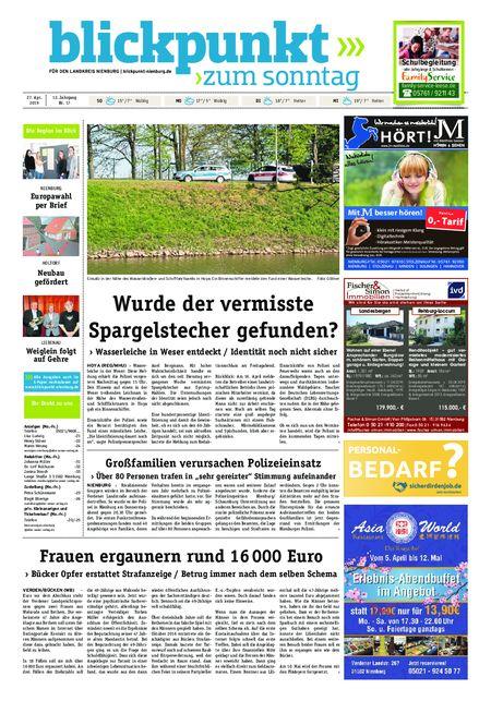 Blickpunkt Nienburg am Sonntag vom 27.04.2019