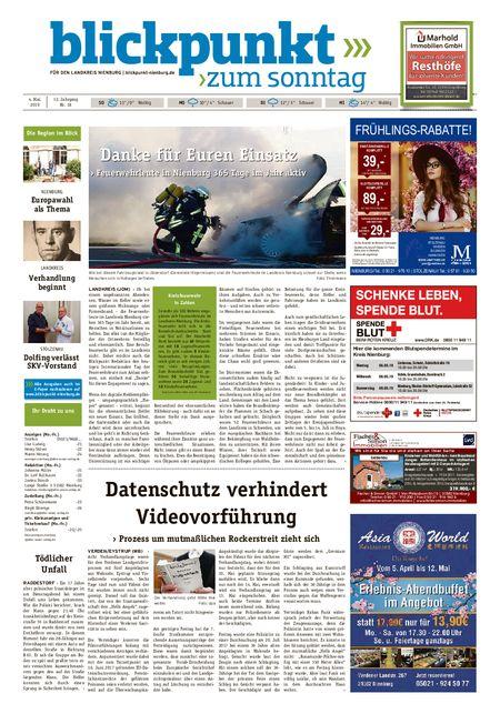 Blickpunkt Nienburg am Sonntag vom 04.05.2019