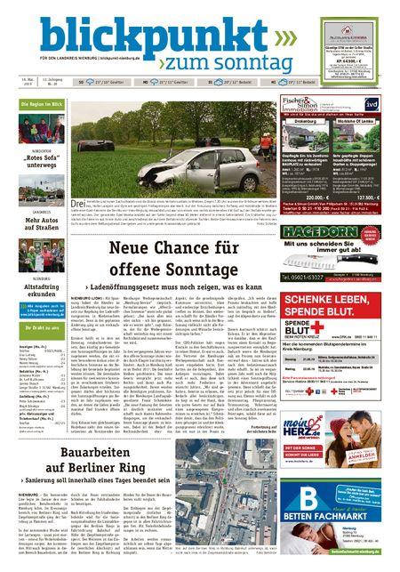 Blickpunkt Nienburg am Sonntag vom 18.05.2019