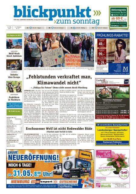 Blickpunkt Nienburg am Sonntag vom 25.05.2019