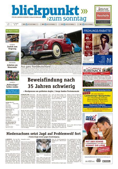 Blickpunkt Nienburg am Sonntag vom 01.06.2019