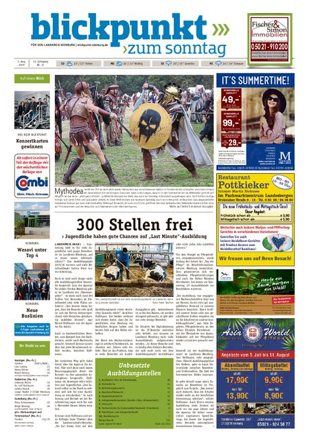 Blickpunkt Nienburg am Sonntag vom 03.08.2019