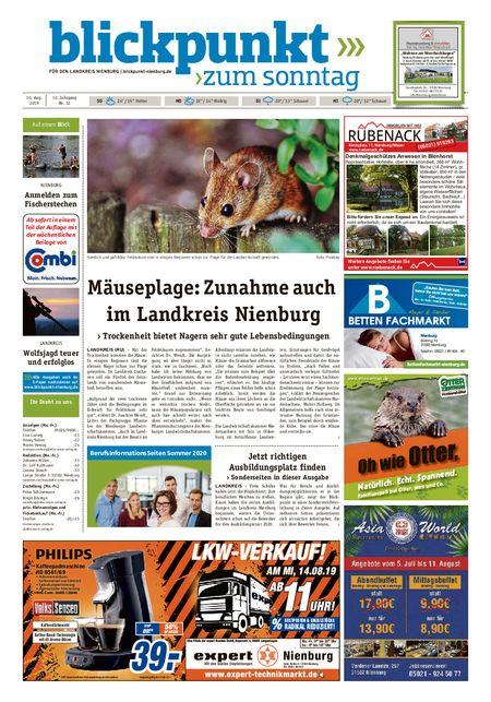 Blickpunkt Nienburg am Sonntag vom 10.08.2019