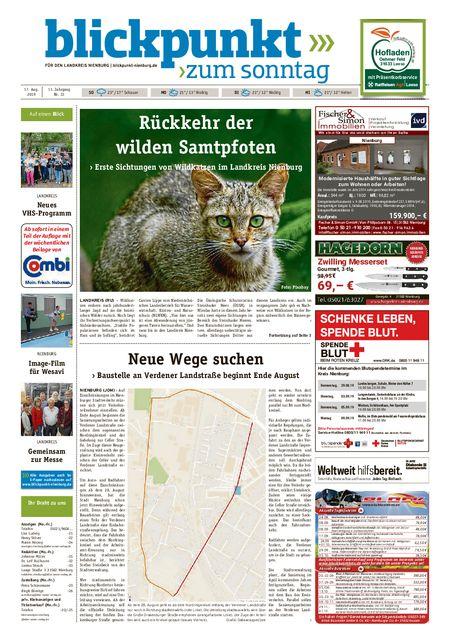Blickpunkt Nienburg am Sonntag vom 17.08.2019