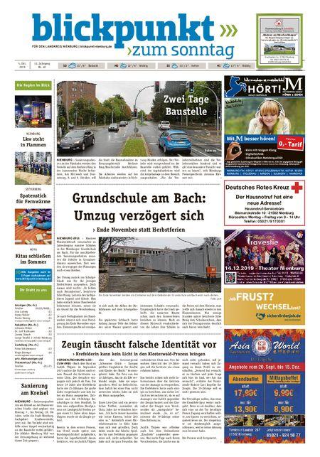 Blickpunkt Nienburg am Sonntag vom 05.10.2019