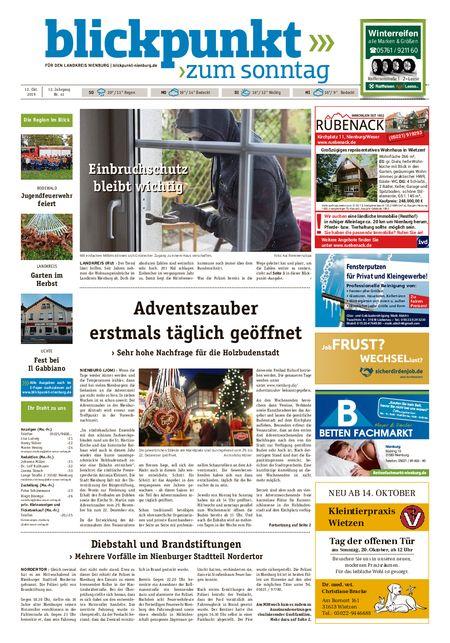 Blickpunkt Nienburg am Sonntag vom 12.10.2019
