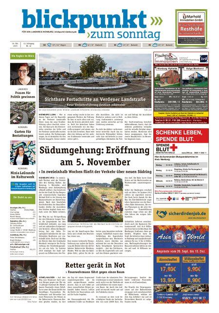 Blickpunkt Nienburg am Sonntag vom 19.10.2019