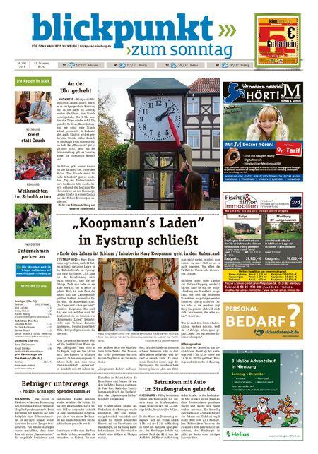 Blickpunkt Nienburg am Sonntag vom 26.10.2019