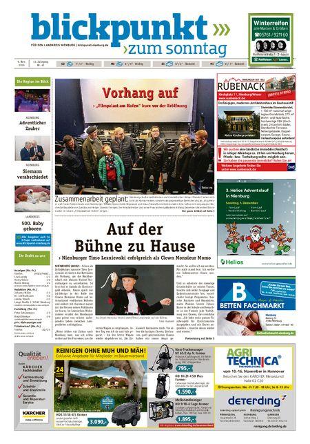 Blickpunkt Nienburg am Sonntag vom 09.11.2019