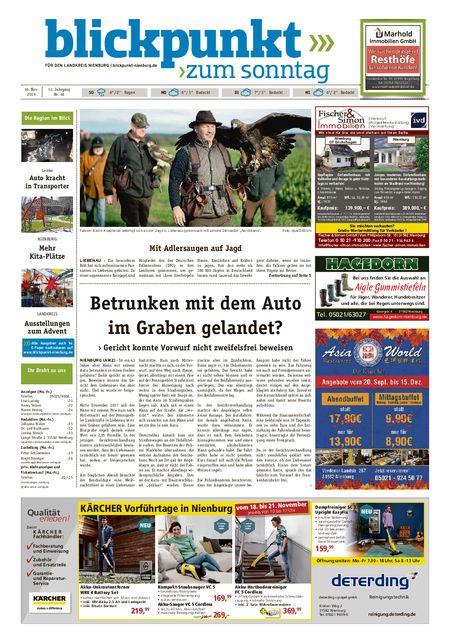 Blickpunkt Nienburg am Sonntag vom 16.11.2019