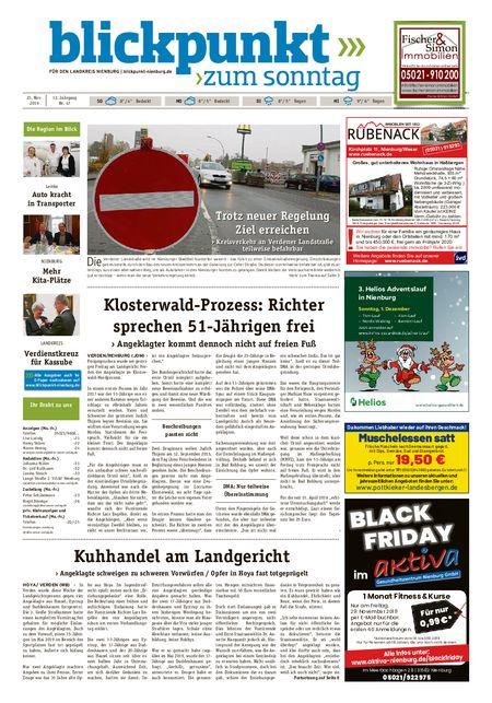 Blickpunkt Nienburg am Sonntag vom 23.11.2019