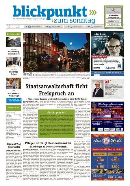 Blickpunkt Nienburg am Sonntag vom 30.11.2019