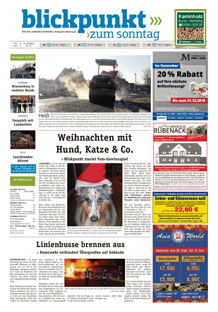 Blickpunkt Nienburg am Sonntag vom 07.12.2019
