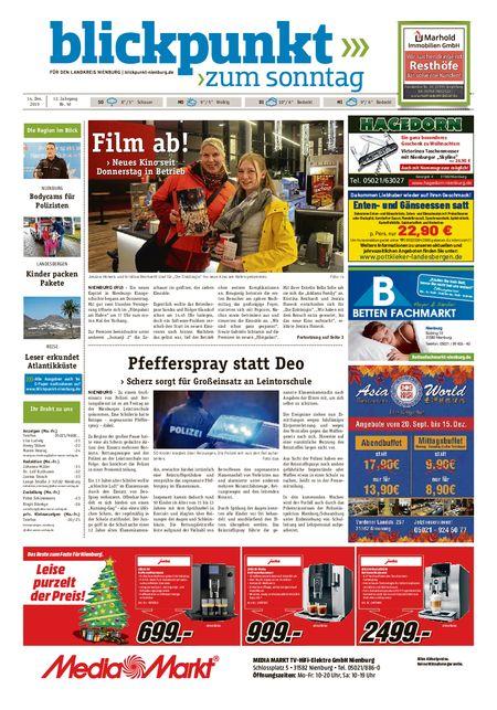 Blickpunkt Nienburg am Sonntag vom 14.12.2019