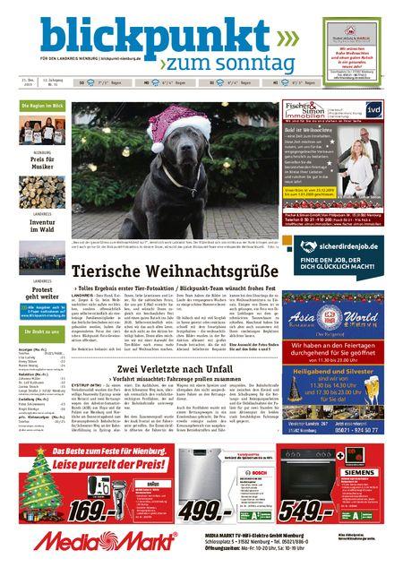 Blickpunkt Nienburg am Sonntag vom 21.12.2019