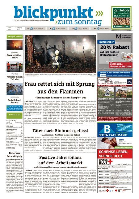 Blickpunkt Nienburg am Sonntag vom 04.01.2020