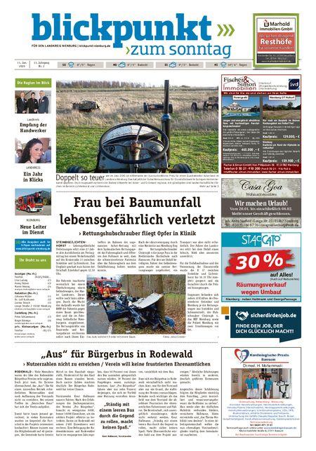 Blickpunkt Nienburg am Sonntag vom 11.01.2020