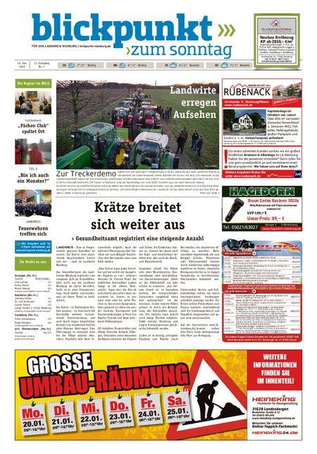 Blickpunkt Nienburg am Sonntag vom 18.01.2020