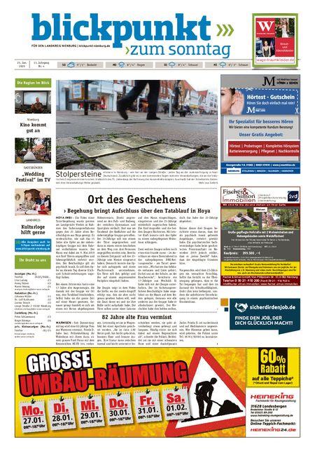 Blickpunkt Nienburg am Sonntag vom 25.01.2020