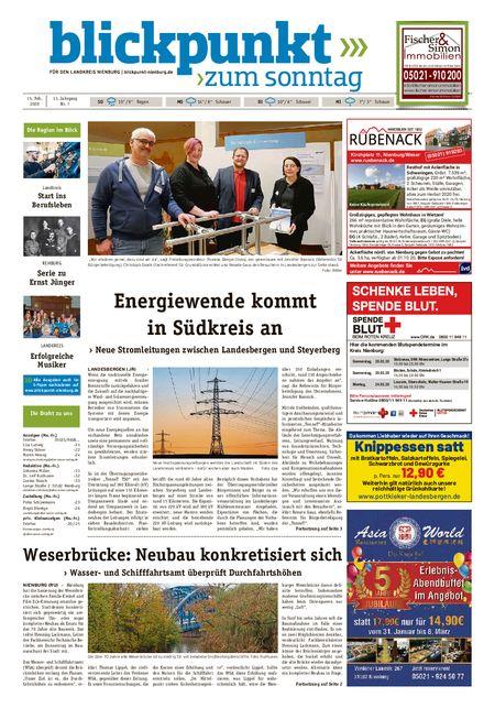 Blickpunkt Nienburg am Sonntag vom 15.02.2020