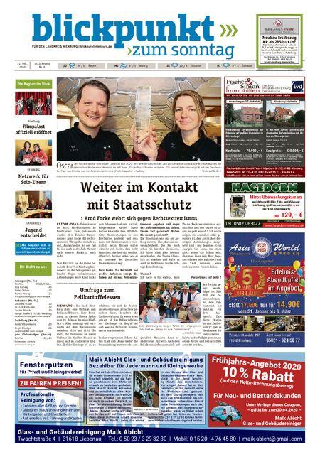 Blickpunkt Nienburg am Sonntag vom 22.02.2020