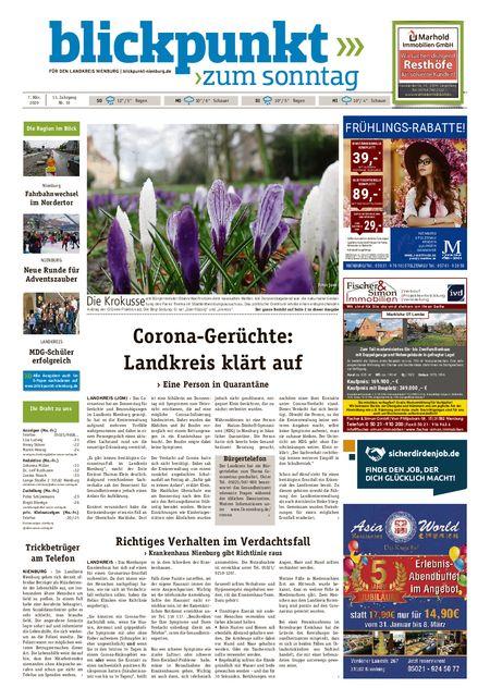 Blickpunkt Nienburg am Sonntag vom 07.03.2020