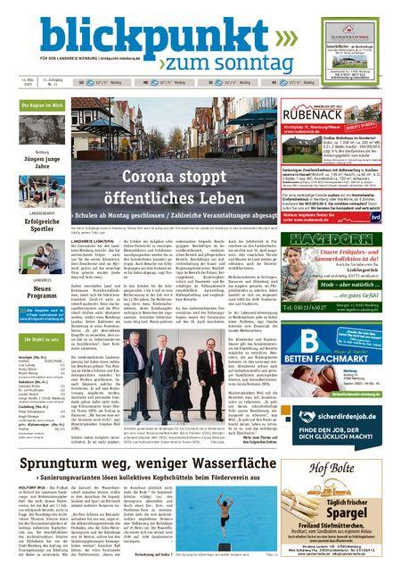 Blickpunkt Nienburg am Sonntag vom 14.03.2020