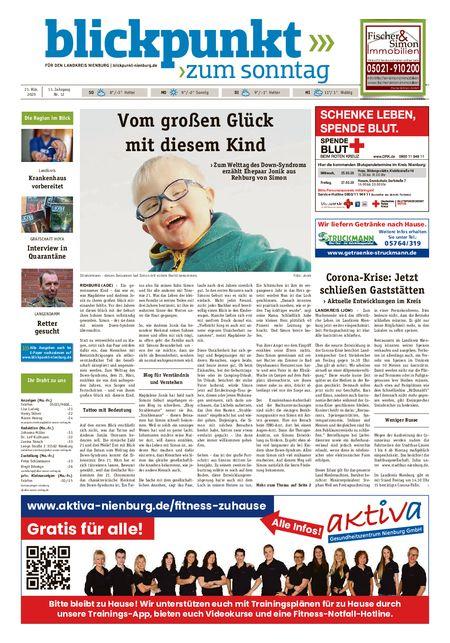 Blickpunkt Nienburg am Sonntag vom 21.03.2020