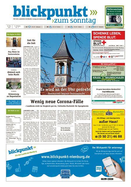 Blickpunkt Nienburg am Sonntag vom 28.03.2020