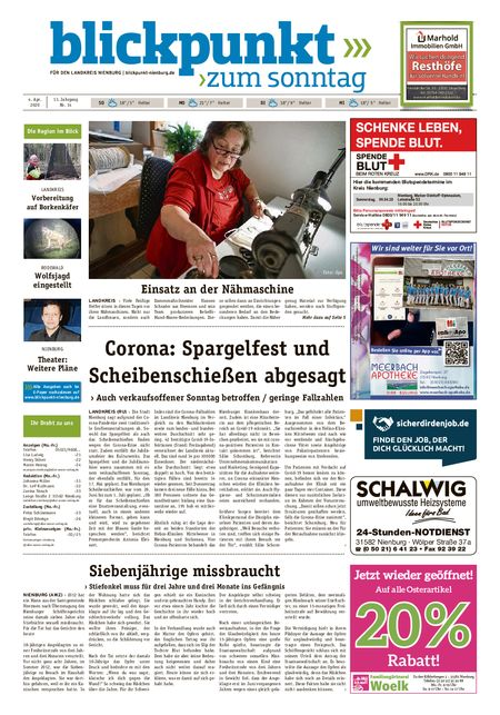 Blickpunkt Nienburg am Sonntag vom 04.04.2020