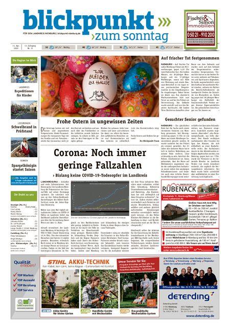 Blickpunkt Nienburg am Sonntag vom 11.04.2020