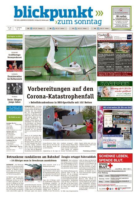 Blickpunkt Nienburg am Sonntag vom 18.04.2020